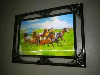 3d wall frame (mahogany)