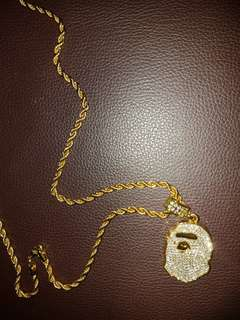 Bape gold chain