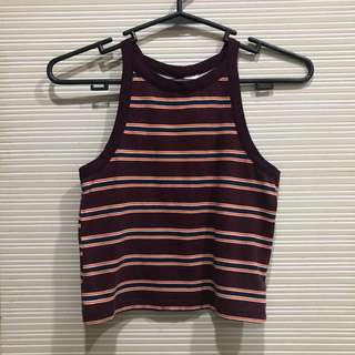 H&M Purple Striped Halter Top