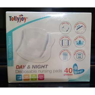 *NEW* TollyJoy Day & Night Disposable Nursing Pad 40pcs FREE 8pcs