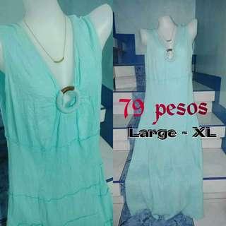 Skyblue maxi dress