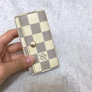 Louis Vuitton 白棋盤格 鑰匙包