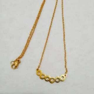 Non tarnish lucky 888 necklace