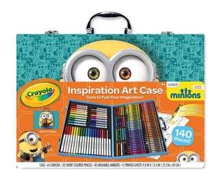 Brand New Crayola Minions Inspiration Art Case