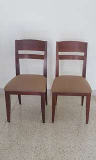 Pair of Wooden Chairs by Philux