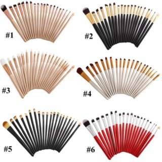 (136)6color Vander 20pcs makeup brushes Set cosmetics brush powder face blush tool