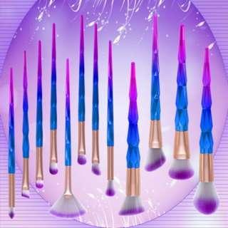 (137)12pcs makeup brushes cosmetics powder Unicorn brush face makeup tools