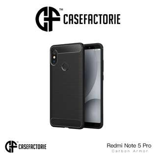 Casefactorie Carbon Armor Case for Xiaomi Redmi Note 5 Pro