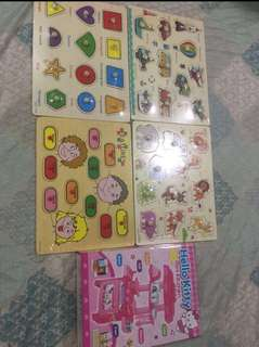 TAKE ALL 4pcs wooden toys and hk kitchen set