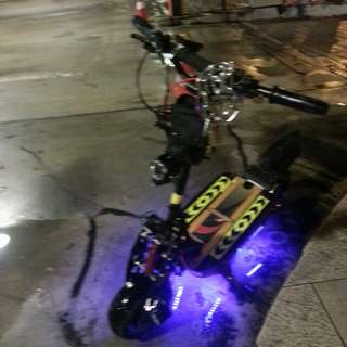 Brushless scooter off road