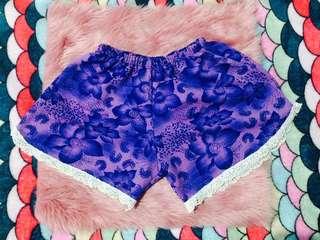 S3 Purple Floral Shorts