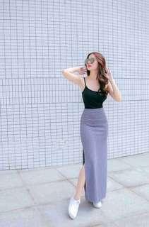 Top & Slit Skirt Terno