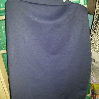 Plain Navy Blue Skirt