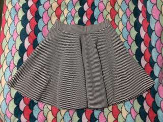 B14 Stripes Textured Skater Skirt