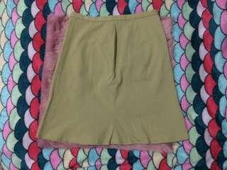 B12 Earth Tones Office Skirt