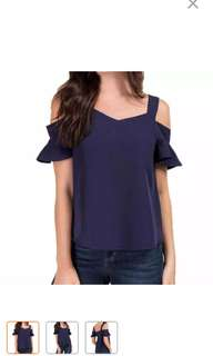 Ready Stock Cold shoulder top
