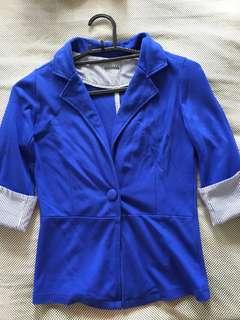 Blue 3/4 blazer