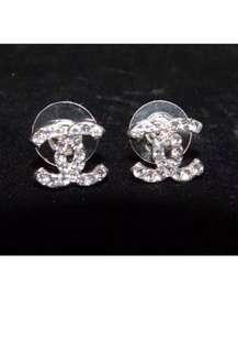 Chanel Diamanté Logo Earrings