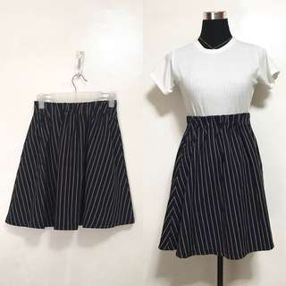 [Preloved] Stripes Skater Skirt