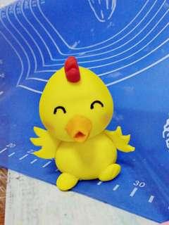 Baby duck fondant topper
