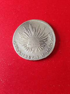 Early Mexicans 8R coin 1826JM