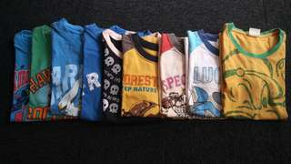 Assorted branded shirts