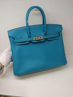 Hermes birkin 25 turquoise