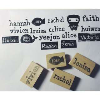 Customisable rubber stamps