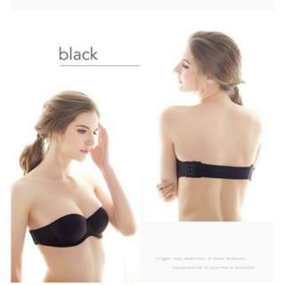 (149)Sexy Gather Push Up Seamless Bra Strapless Invisible Underwear Lingerie