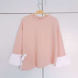 Bell Sleeve Asymmetrical Top