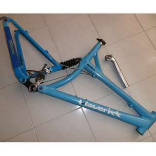 """Maverick Durance 26"""" All Mountain Full Suspension Frame. Made in U.S.A."""