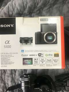 Sony A5100 Camera and equipment
