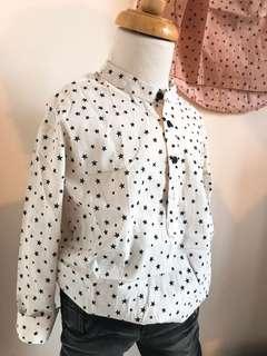 正韓星星襯衫~男女童都可以穿