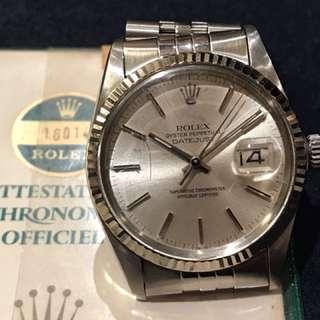 Rolex 16014 DATEJUST  有香港出世紙 有當年買單 全自動日暦行走正常