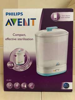 PHILIPS AVENT 0% BPA- electric steam steriliser 2 in 1