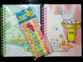 Notebooks and star paper!
