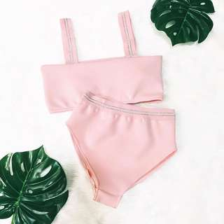 2-PC Pastel Pink Swimsuit