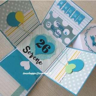 Teal Birthday Gift Box Album