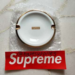 [INSTOCK] Supreme FW17 Gold Trim Ceramic Ashtray