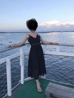 超美細肩蕾絲洋裝連身裙