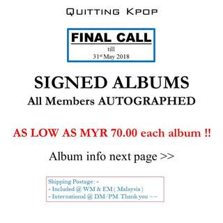 SIGNED KPOP ALBUM SALE