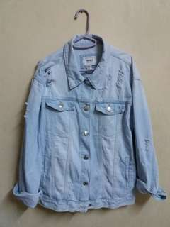 FOREVER 21 Denim Ripped Jackets