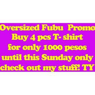 FUBU PROMO SALE BUY 4 for 1000 Pesos (250 PESOS EACH)