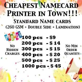 Name card printing