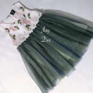 ❤️Tutu Dress (Flowery Emerald)❤️