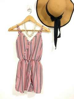 Stripes romper short