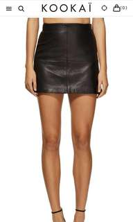Kookai 100% leather New Jersey skirt (M- 40) fit size 10-12
