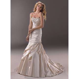 Stella York Ivory Satin Wedding Bridal Dress