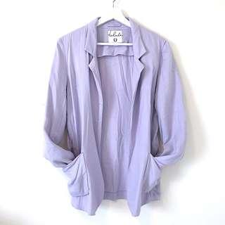 Aritzia Talula Lavender Purple Boxy Blazer - Size 6 EUC