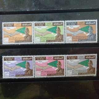 [lapyip1230] 伊拉克共和國 1962年 革命四周年 新票大全套(原膠無背貼) MNH